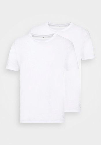 DOUBLE PACK CREW NECK TEE - Basic T-shirt - white