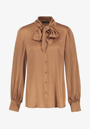 MIT SCHLUPPE - Button-down blouse - toffee