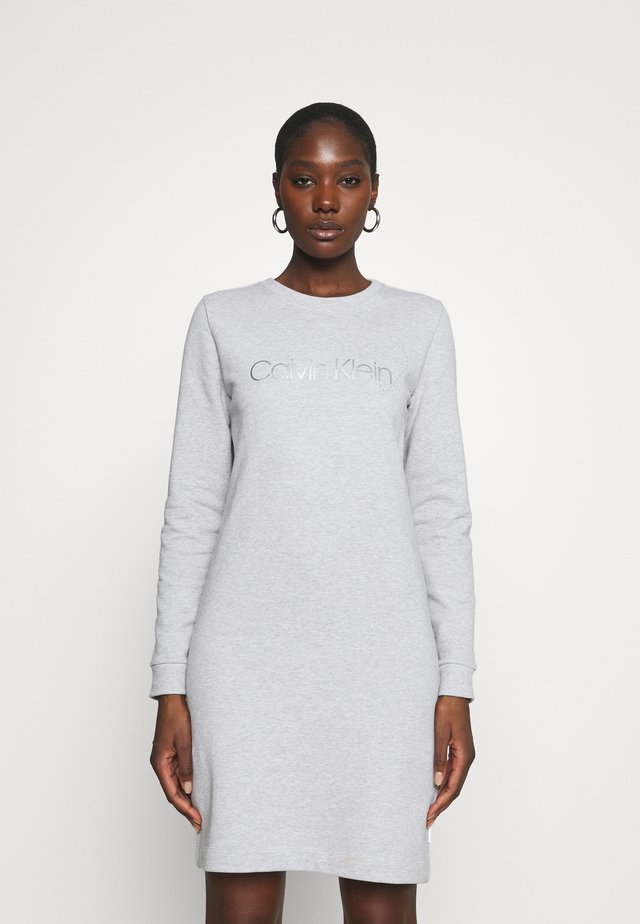 VALENTINES - Korte jurk - light grey heather