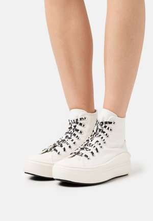 CHUCK TAYLOR MOVE ARCHIVE PLATFORM - High-top trainers - egret/black