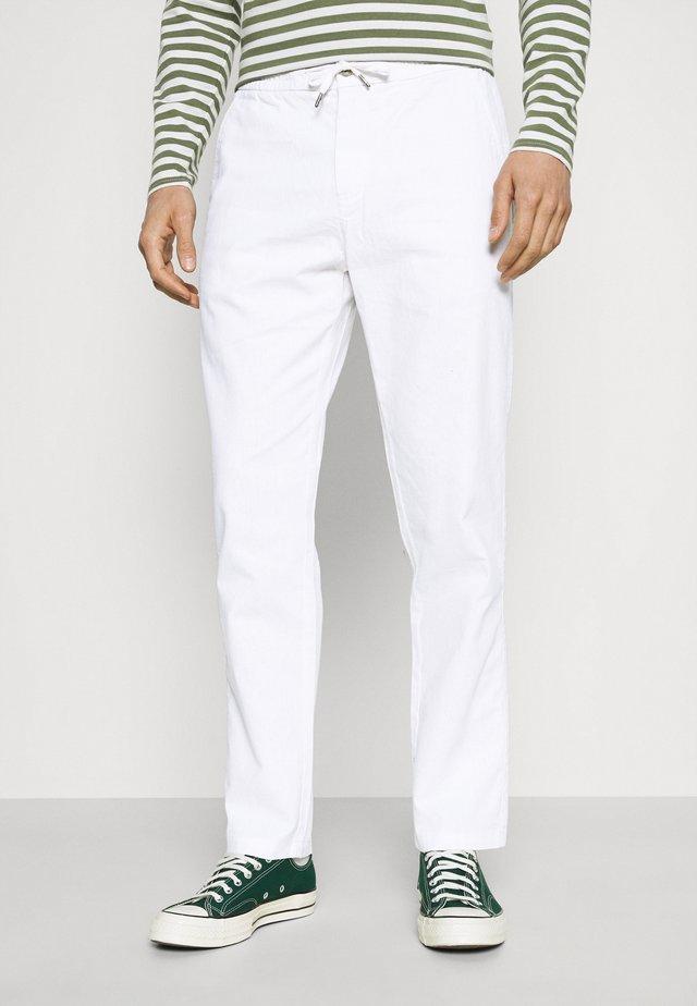 ELASTIC WAIST PANTS - Kangashousut - white