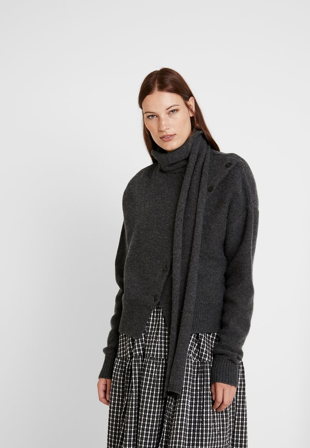 LEIGH - Strikpullover /Striktrøjer - dark grey melange