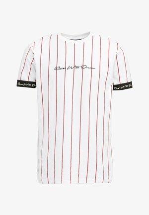 CLIFTON - Print T-shirt - white / red