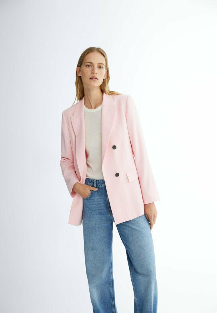 Massimo Dutti - DEKORATIVEN KNÖPFEN  - Blazer - light pink