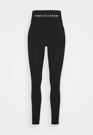 TAPE - Leggings - black/lilac