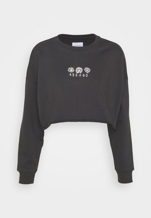 CROP - Sudadera - washed black