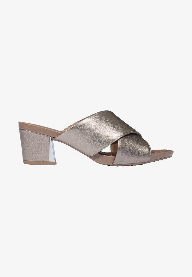 SARAH - Heeled mules - gold