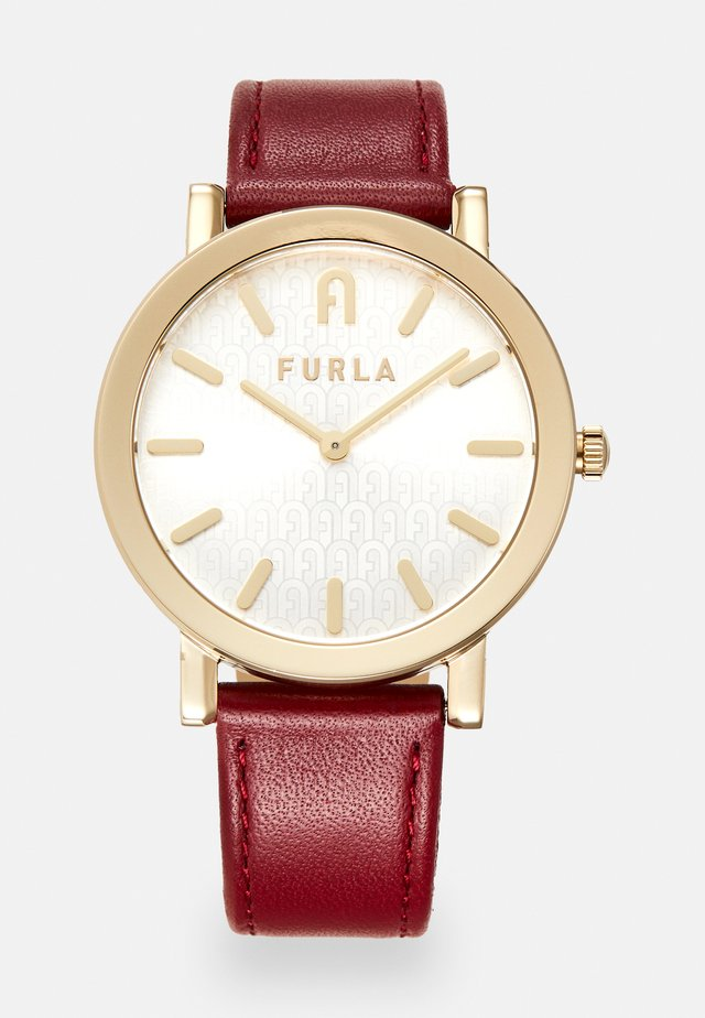 FURLA MINIMAL SHAPE - Montre - red/gold-coloured