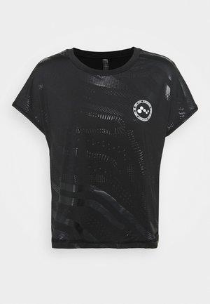 ONPONAY LOOSE TRAINING TEE - T-shirt con stampa - black