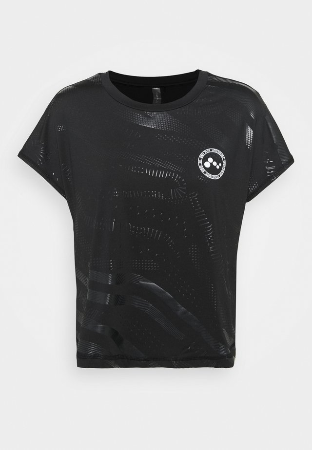 ONPONAY LOOSE TRAINING TEE - T-shirt imprimé - black