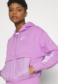 Nike Sportswear - Zip-up sweatshirt - violet shock/white - 4