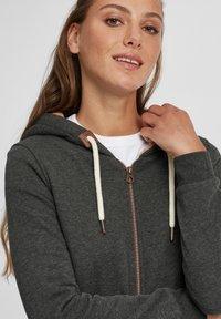 Oxmo - VICKY PILE - Zip-up hoodie - dar grey m - 3