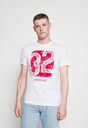 T-shirt med print - general white