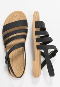Crocs - TULUM - Pantoffels - black/tan - 3