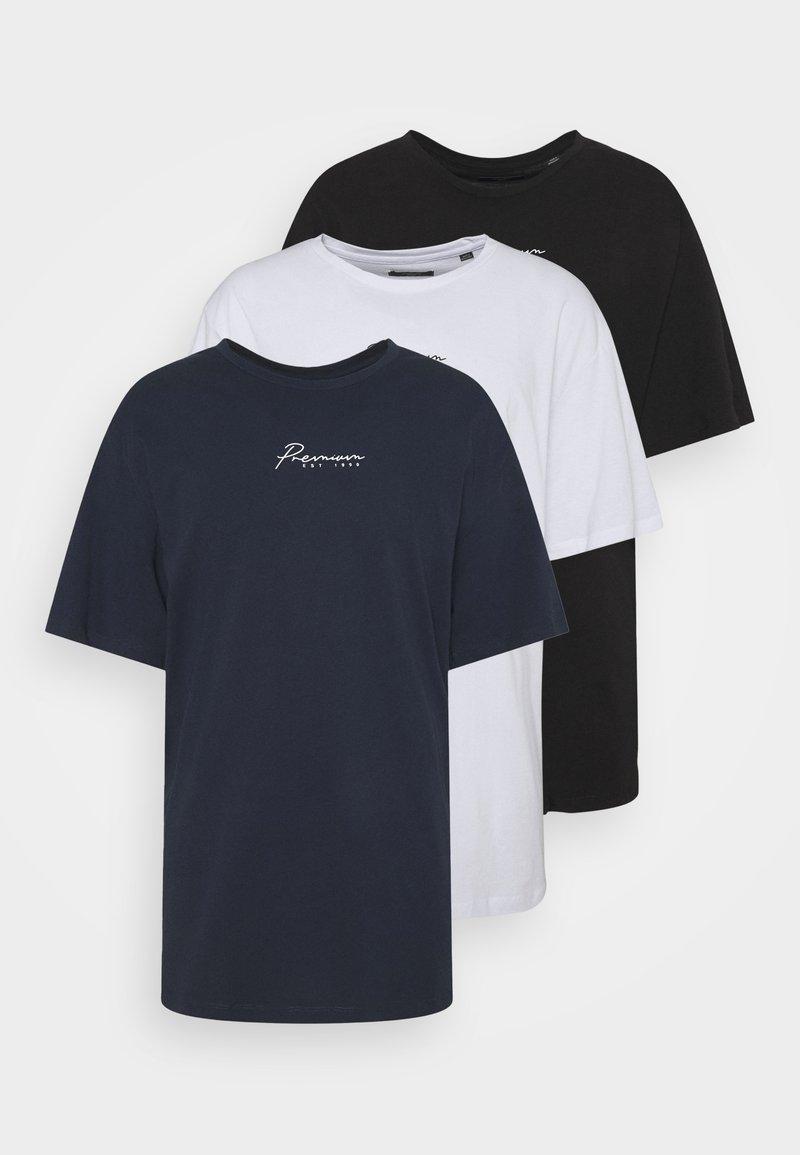 Jack & Jones - JPRBLASTAR TEE 3 PACK - Print T-shirt - white/blue/black