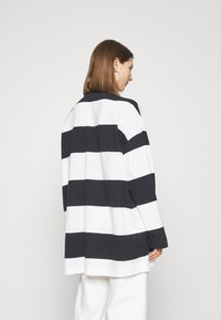 Weekday - KALANI - Long sleeved top - off black/white - 2