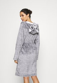 Loungeable - RACOON HOODED ROBE - Dressing gown - grey - 2