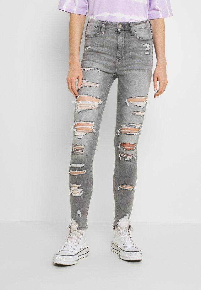 SUPER HI RISE - Jeans Skinny Fit - storm heather