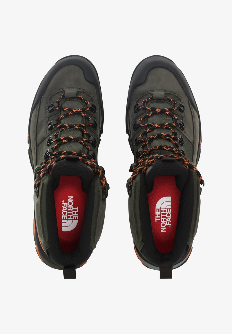 The North Face - M CRESTVALE FUTURELIGHT - Hiking shoes - new taupe green/tnf black