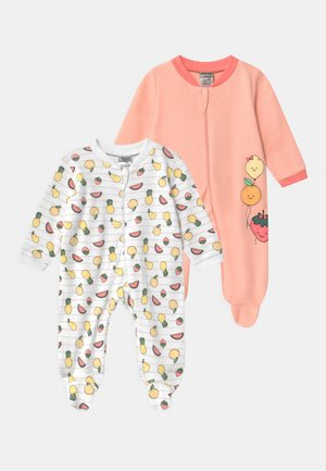 GIRLS 2 PACK - Sleep suit - light pink/white