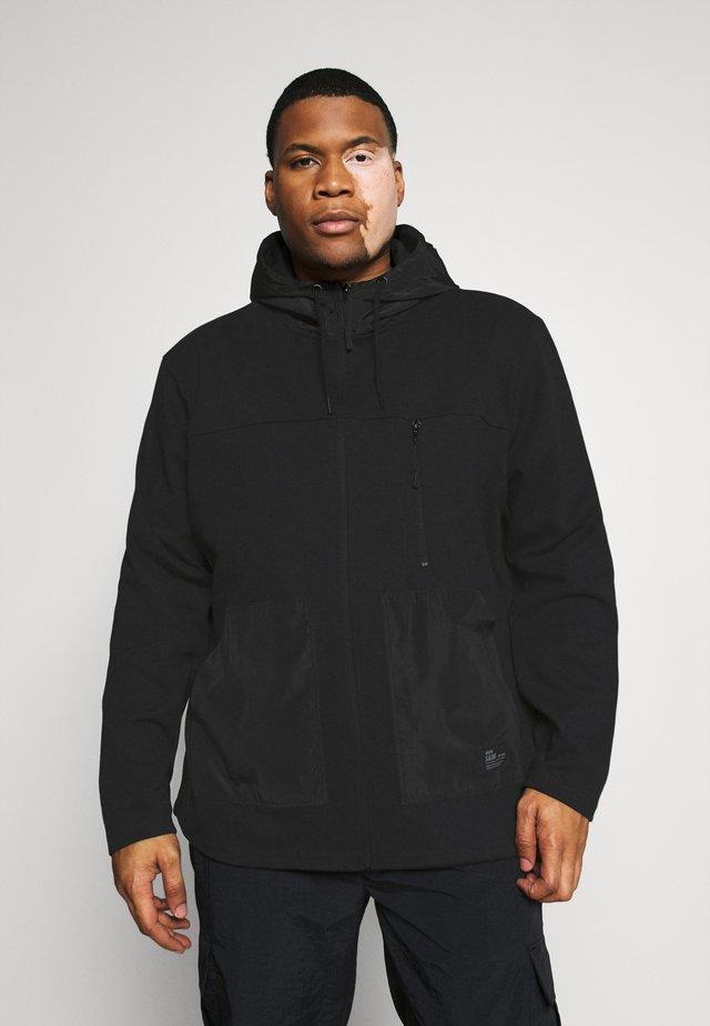 USELKON - Zip-up hoodie - black