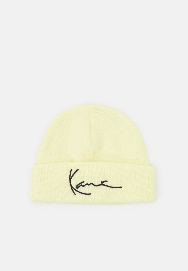 SIGNATURE FISHERMAN BEANIE UNISEX - Čepice - yellow