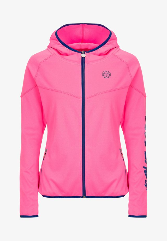 GRACE  - Training jacket - pink/dark blue