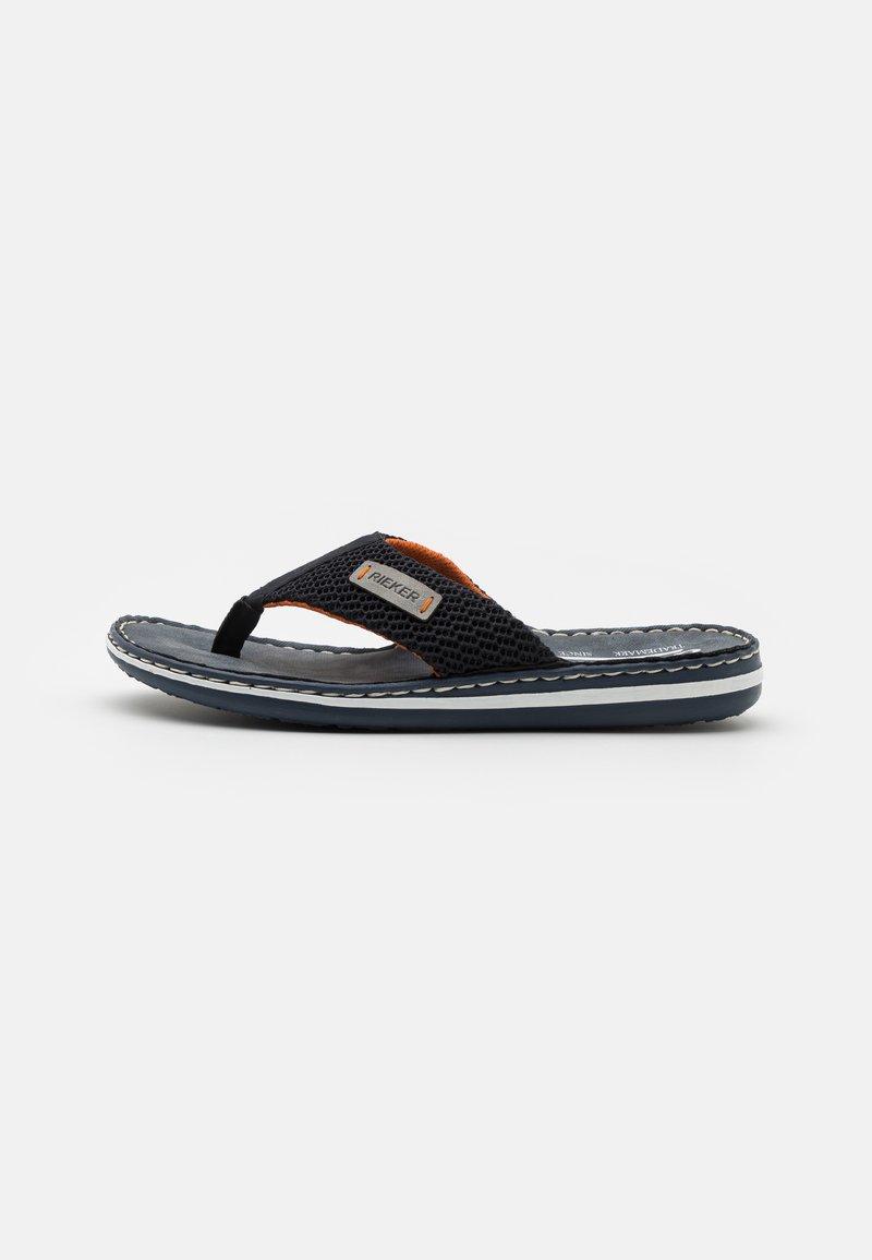 Rieker - T-bar sandals - pazifik/navy/grigio