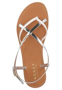 Scapa - T-bar sandals - silver - 3