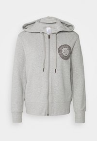 Calvin Klein Underwear - ICONIC LOUNGE FULL ZIP HOODIE - Pyjamashirt - grey heather - 0