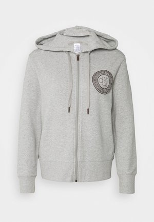 ICONIC LOUNGE FULL ZIP HOODIE - Pyjamasoverdel - grey heather