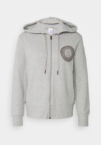 ICONIC LOUNGE FULL ZIP HOODIE - Maglia del pigiama - grey heather