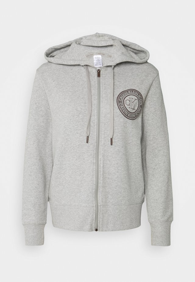 ICONIC LOUNGE FULL ZIP HOODIE - Pyjamashirt - grey heather
