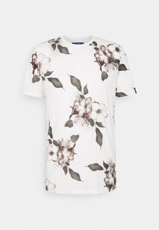 FLORAL TEE - T-shirt imprimé - winter white