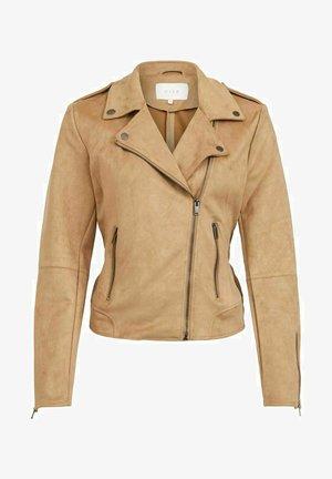 VIFADDY JACKET - Faux leather jacket - tigers eye