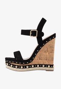 Steve Madden - MAURISA - High heeled sandals - black - 1