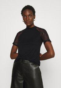 Anna Field - Camiseta estampada - black - 0