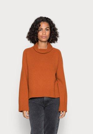 LONGSLEEVE STAND UP COLLAR - Jumper - bright rustic orange
