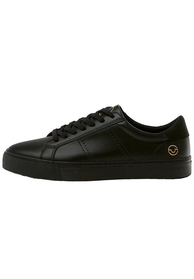 SCHWARZE SNEAKER MIT BROGUING 12204540 - Sneakers laag - black