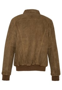 EFFET VELOURS - Leather jacket - rouille
