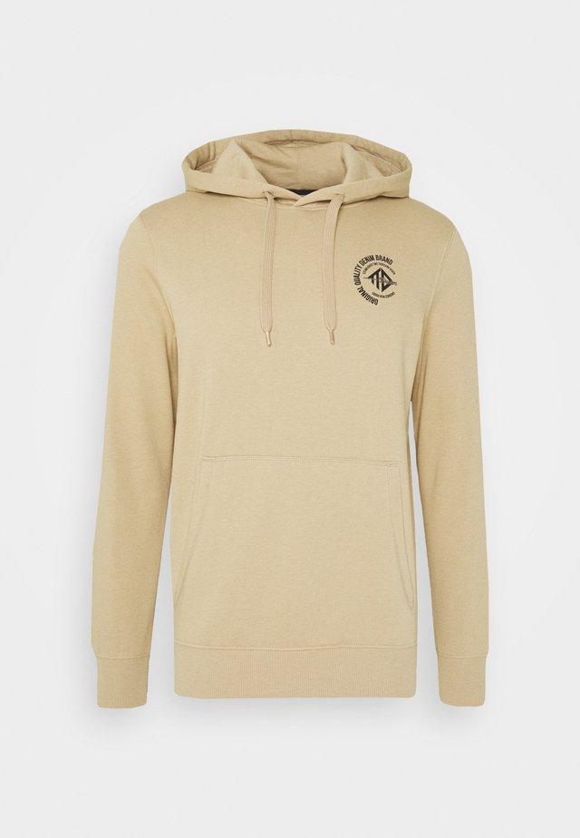 HOODY CHEST PRINT - Hoodie - smoked beige