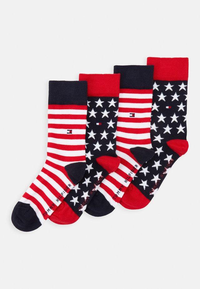 KIDS SOCK STARS AND STRIPES 4 PACK - Socks - dark blue/red/white