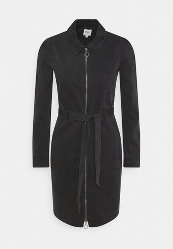 ONLNEW CHIGO DRESS - Denim dress - black denim