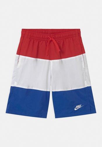 WOVEN BLOCK - Shorts - university red/white/game royal