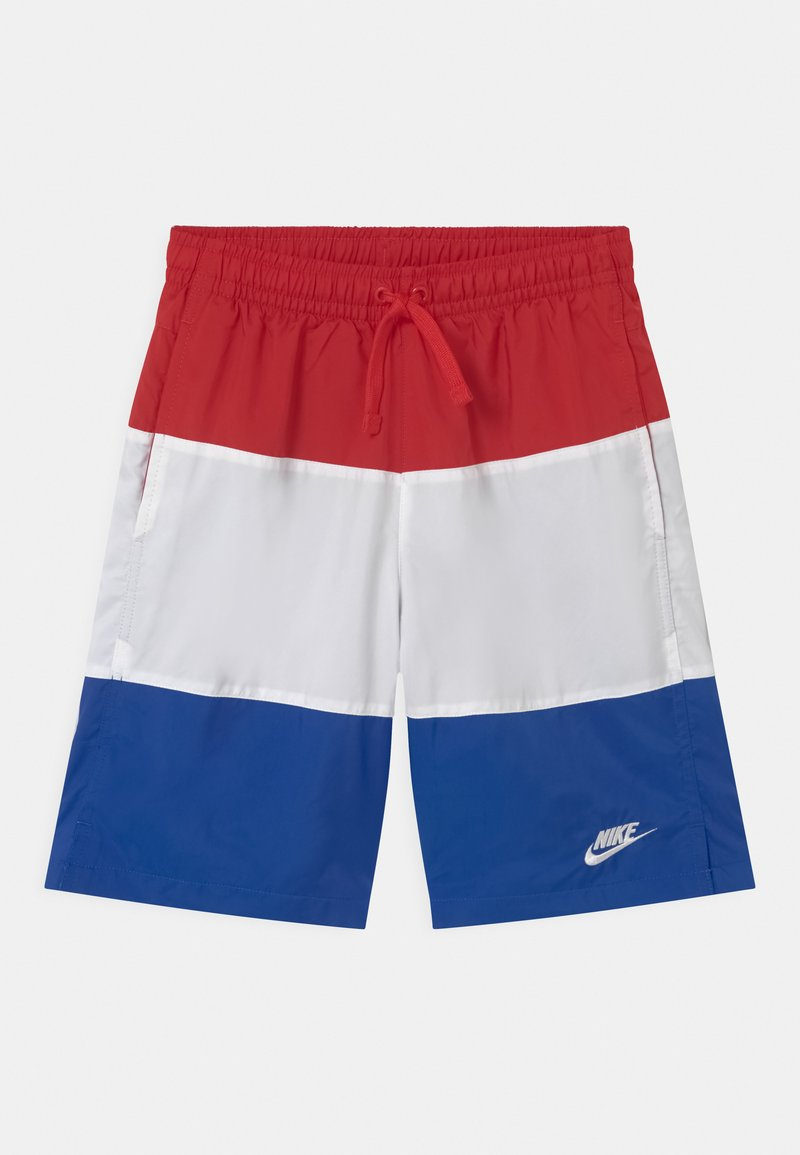 Nike Sportswear - WOVEN BLOCK - Shorts - university red/white/game royal