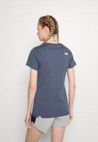 The North Face - EASY TEE - T-shirt con stampa - vintage indigo - 2