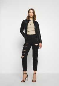 ONLY - ONLMELISA FAUX JACKET - Veste en similicuir - black - 1