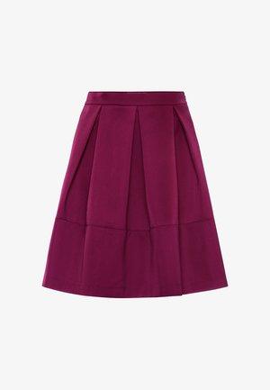 A-line skirt - cassis