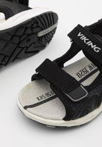 Viking - ANCHOR UNISEX - Walking sandals - black/grey - 5