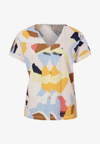 comma casual identity - MIT ALLOVER-PRINT - Print T-shirt - blush abstract geo - 4